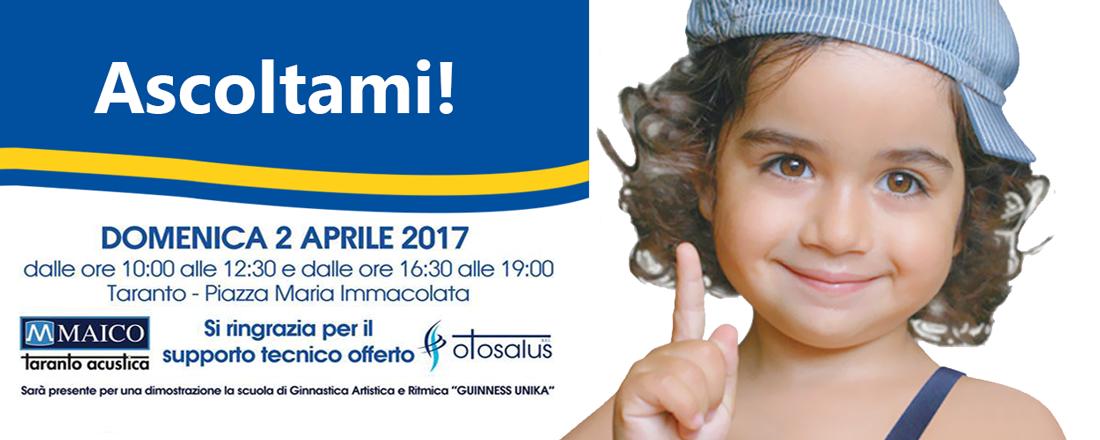 Ascoltami !!! il 2 Aprile a Taranto