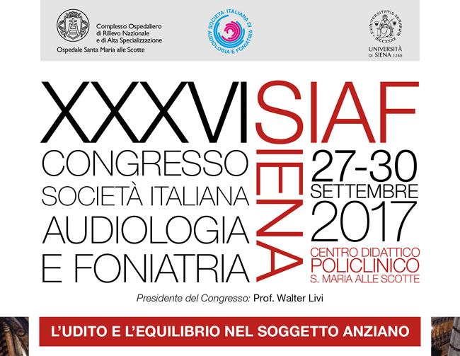 Congresso SIAF 2017 – Dal 27 al 30 Settembre 2017