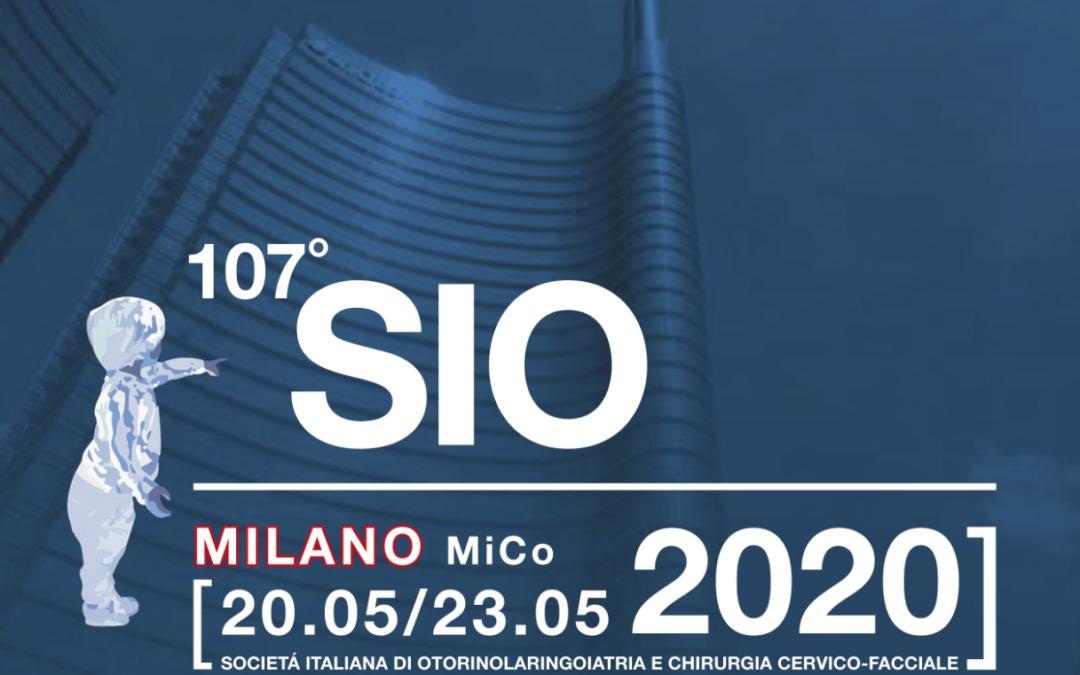 Congresso SIO 2020 –  Milano, dal 20 al 23 Maggio